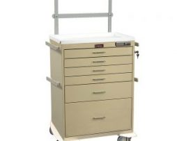 Harloff 7451E Classic Line Six Drawer Anesthesia Cart Specialty Package