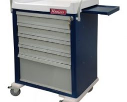 Harloff AL48MDBIN Aluminum Multi Dose Medication Cart
