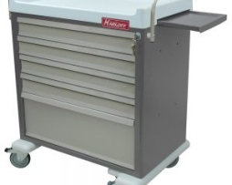 Harloff AL64MDBIN OptimAL Line Aluminum Medication Cart