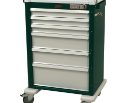 Harloff AL810E6 Universal Line Six Drawer Aluminum Procedure Cart