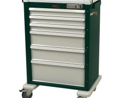 Harloff AL810E6 Aluminum Six Drawer Treatment Procedure Cart