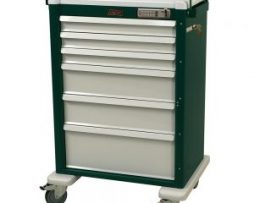 Harloff AL810E6 Aluminum 6 Drawer Procedure Cart