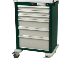 Harloff AL810EKC6 Aluminum Six Drawer Treatment Procedure Cart