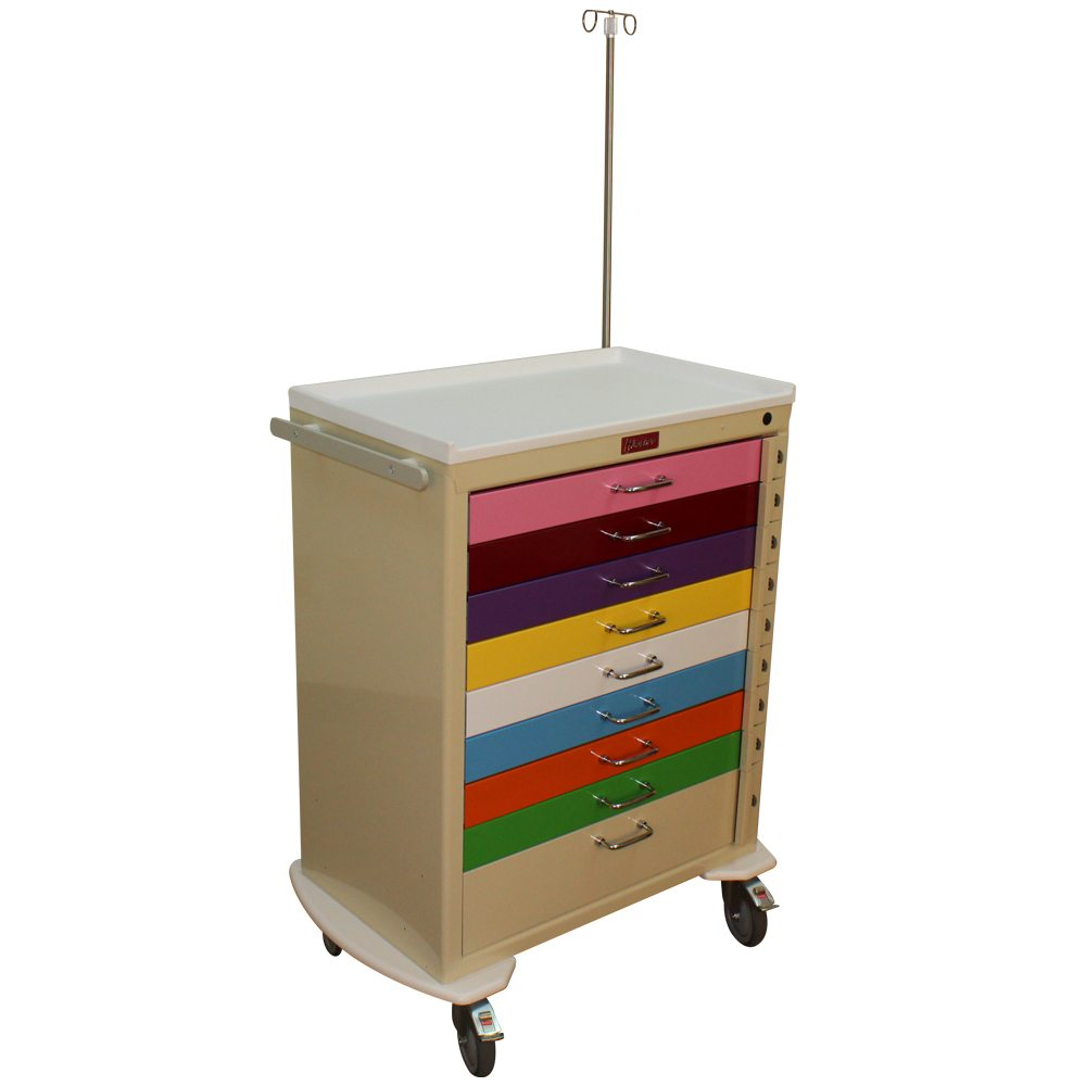 Harloff M3030b9 Ped Emg Pediatric Nine Drawer Emergency