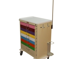 Harloff M3030B9-PED-EMG Nine Drawer Pediatric Emergency Cart