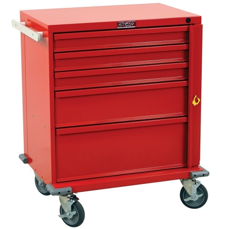 Harloff V24-5B V-Series Five Drawer Emergency Crash Cart