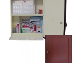 Harloff WL2790-DC Wooden Laminate Medication Cabinet