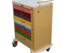 Harloff M3030B9-PED Nine Drawer Pediatric Emergency Cart