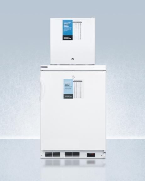 Summit FF6L-FS24LSTACKPRO Medical Refrigerator Freezer