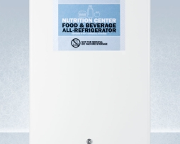 Summit FF31L7NZ Compact Nutrition 2.5cf Commercial Refrigerator