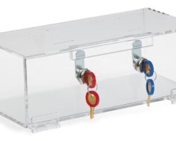 Omnimed 183002 Clear Acrylic Refrigerator Double Lock Box
