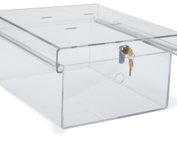 Omnimed 183010 Clear Acrylic Refrigerator Lock Box Large