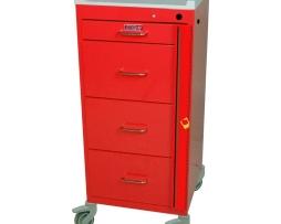 Harloff 3154B Mini Line Emergency Cart Four Drawer