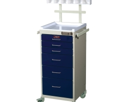 Harloff 3156E-ANS Anesthesia Cart Mini Line Six Drawer
