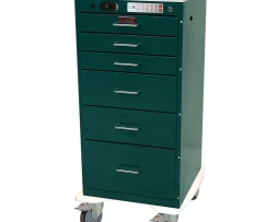 Harloff AL3256ELP Anesthesia Cart Aluminum Mini Line Six Drawer