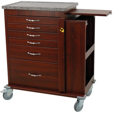Harloff WV6400SC-CM Wood Vinyl Aluminum Emergency Cart