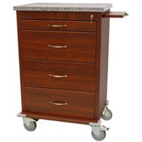 Harloff WV6520-CM Treatment Cart Aluminum Wood Vinyl