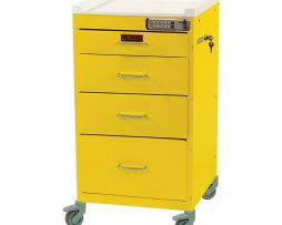 Harloff 3144E Infection Control Cart Classic Line Four Drawer