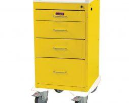 Harloff AL3244K Treatment Procedure Cart Mini Line Four Drawer