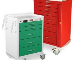 Harloff MDS2421B05 Emergency Cart M-Series Medium Five Drawer