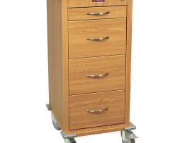 Harloff WV240PC-OAK Medication Cart Wood Laminate Punch Card