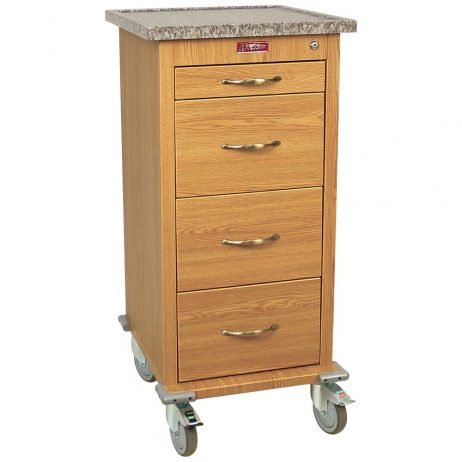 Harloff WV240PC-OAK Medication Cart Wood Laminate Punch Card