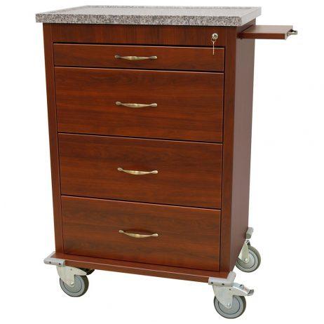 Harloff WV360PC-CM Medication Cart Wood Laminate Punch Card