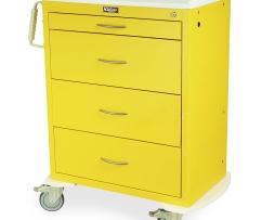 Harloff MDS3030K04 M-Series Tall Isolation Medical Cart